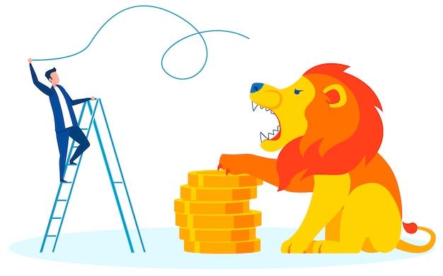 Nöte, die bargeld-karikatur-vektor-metapher verdienen
