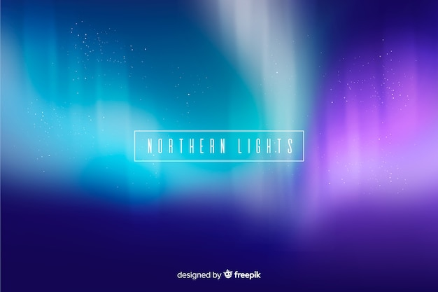 Nordhintergrund mit lichtwellen