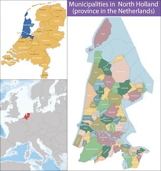 Nordholland ist eine provinz der niederlande