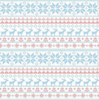 Nordische art des weihnachtsnahtlosen musters