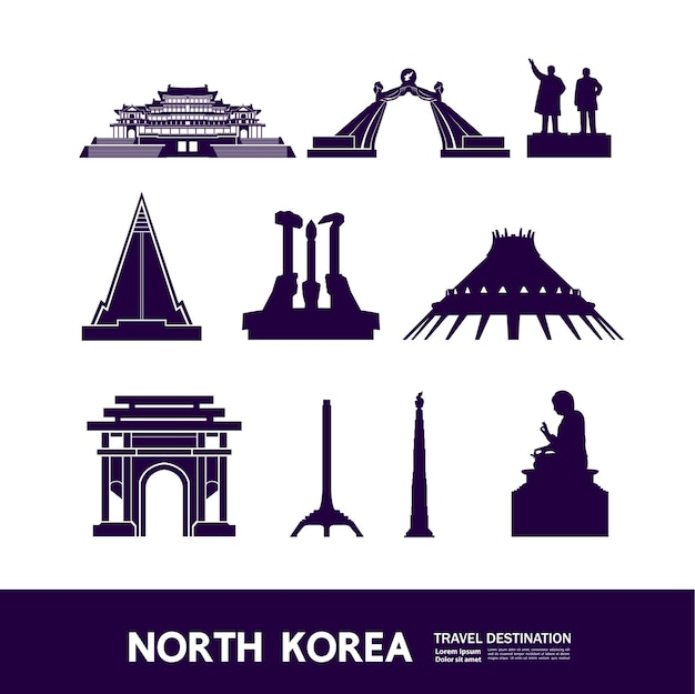 Nordkorea reiseziel illustration.
