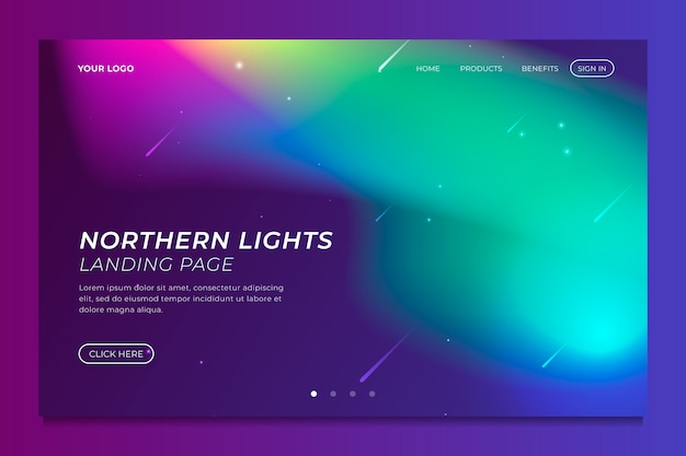 Nordlicht-landing-page-vorlage