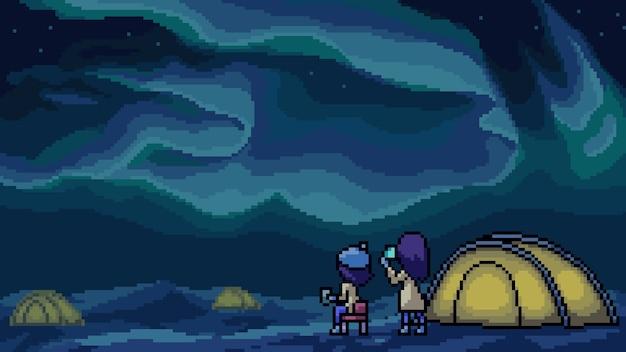 Nordlichtlager der pixelkunstszene