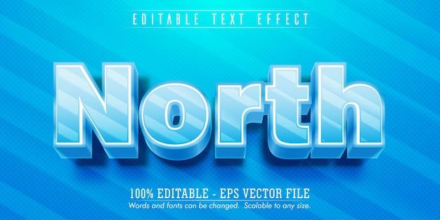 Nordtext, bearbeitbarer texteffekt im eisstil