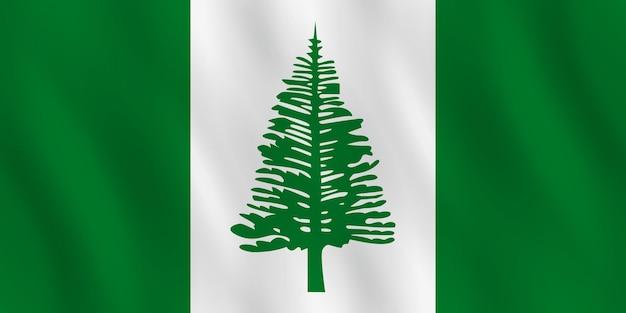 Norfolk-insel-flagge mit wehender wirkung, offizieller anteil.