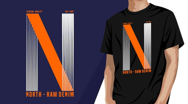 North raw denim - t-shirt design