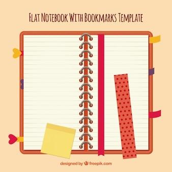 Notebook mit rotem deckel