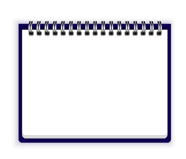 Notebook-papiervektor