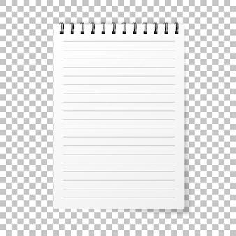 Notebook realistischen stil