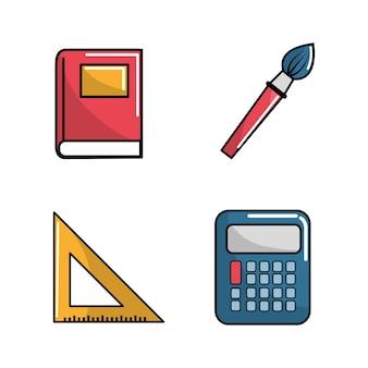 Notebook schule werkzeugsymbol