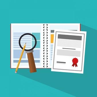 Notebook und dokumente