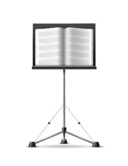 Notenständer mit musikbuch