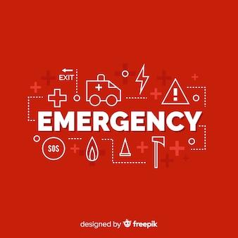 Notfall wort konzept hintergrund