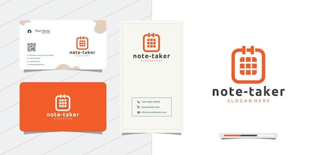 Notiz- und visitenkarten-logo-design