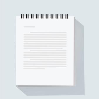 Notizblockblatt-vektorillustration