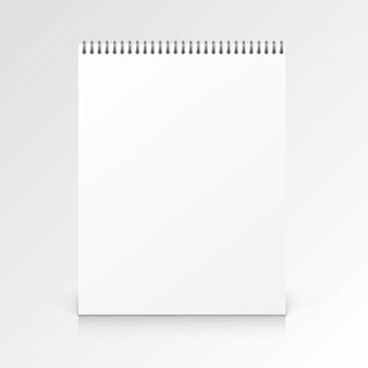 Notizbuch aus papier auf weißem hintergrund. vektor-illustration