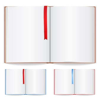 Notizbuch mit lesezeichenillustration