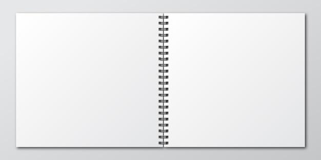 Notizbuch. modell eines notizbuchs aus papier. vorlage des notizbuchs