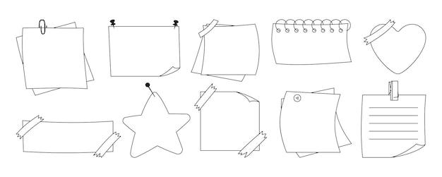 Notizbuch papier klebrig set leere notizblöcke memo nachrichten aufkleber notiz planung