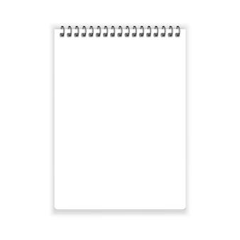 Notizbuchpapiervektor