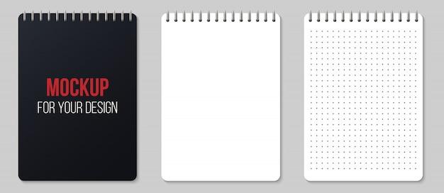 Notizbücher gezeichnet und punkte