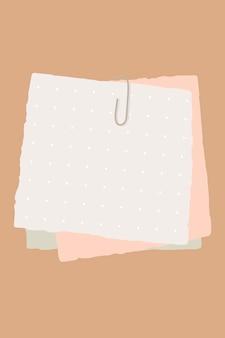 Notizen auf papier