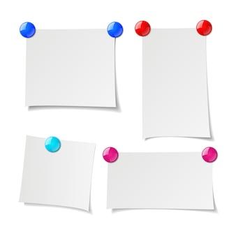 Notizen gesetzt, erinnerungspapiere mit stiftmagnet.