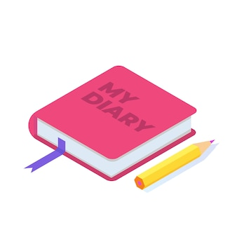 Notizen, tagebuch schreiben konzept. frau schreibt tagebuch. vektor-illustration