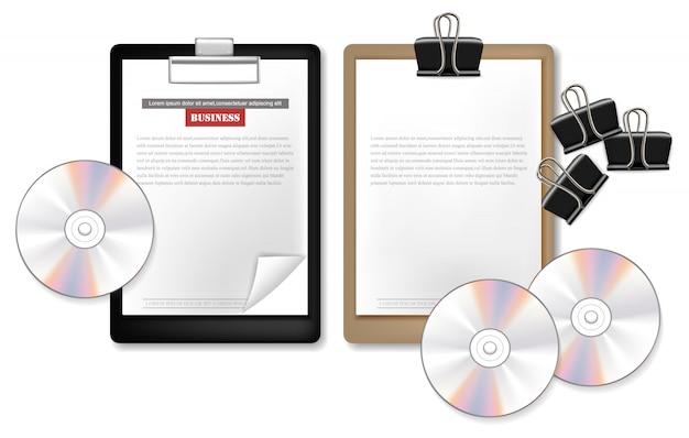 Notizkarte und cd