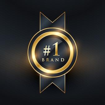 Nr. 1 marke premium golden label abzeichen design
