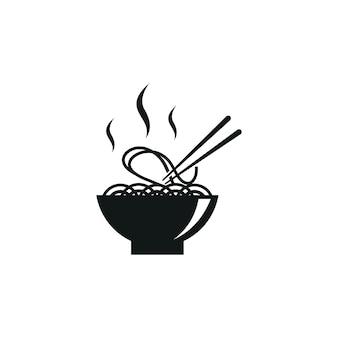 Nudel logo grafik abstrakt modern