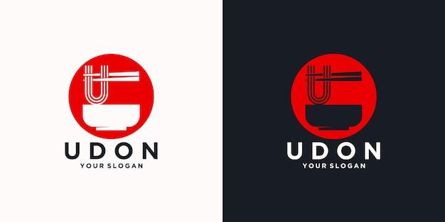 Nudel-logo-referenz mit anfänglichem stil, nudelladen, ramen, udon, lebensmittelgeschäft und anderen.