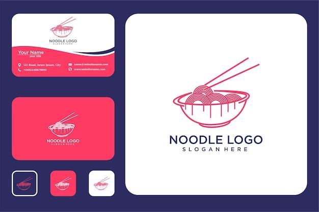 Nudellinie logo-design und visitenkarte