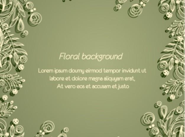 Nüchtern minimal floral grünen hintergrund