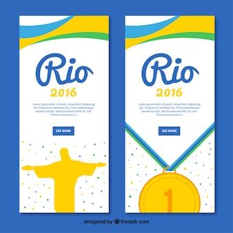 Nützliche banner für die olympischen spiele in brasilien