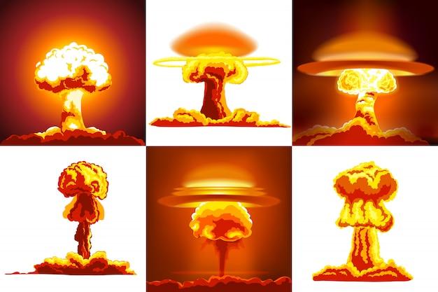 Nukleare explosionen gesetzt
