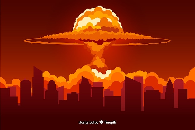 Nukleare explosionseffekt flache bauform