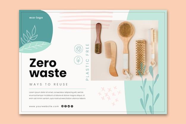 Null abfall plastikfreie produkte banner vorlage