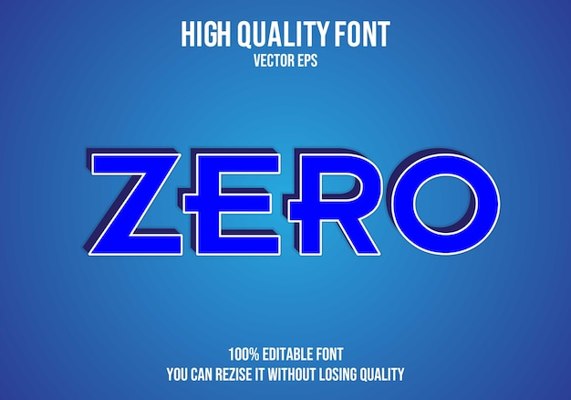 Null bearbeitbarer text effekt