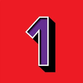 Nummer 1-logo auf rotem hintergrund