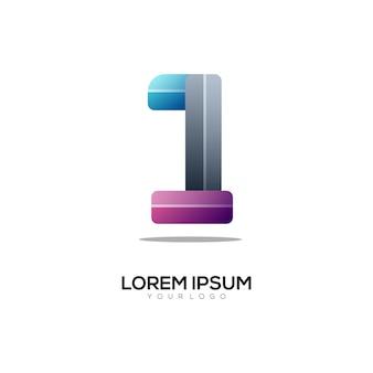 Nummer 1 logo bunter farbverlauf