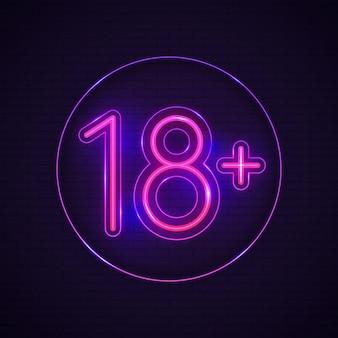 Nummer 18+ im neon-konzept