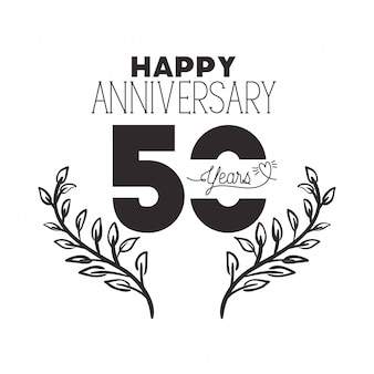 Nummer 50 für jubiläumsfeier emblem oder abzeichen