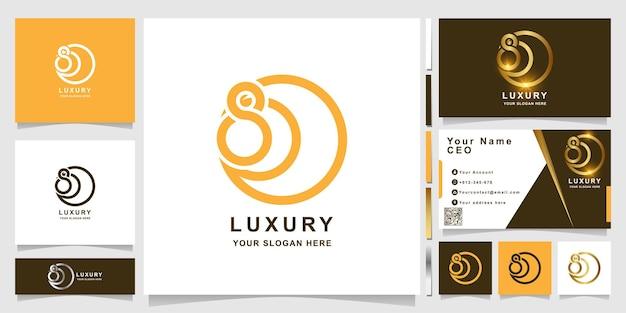 Nummer 800 logo-vorlage mit visitenkarten-design