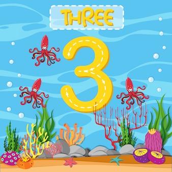 Nummer drei unterwasserthema