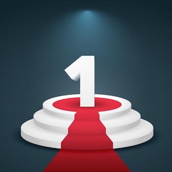 Nummer eins 3d-design