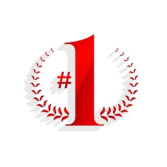 Nummer eins gewinner-zeichen-design