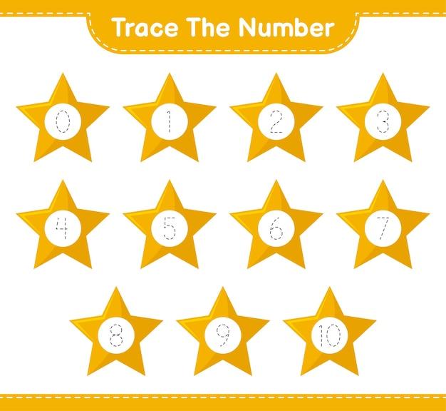 Nummer mit sternen verfolgen