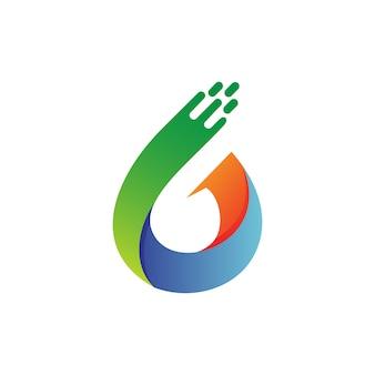 Nummer sechs logo-vektor