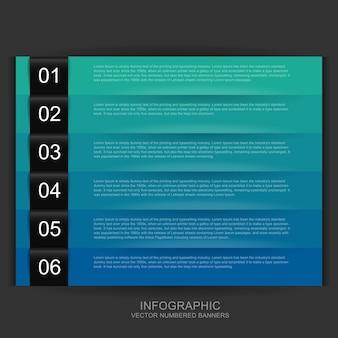 Nummerierte banner infografik vorlage für die präsentation